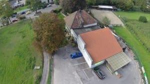 Luftbild Getränke Rampe