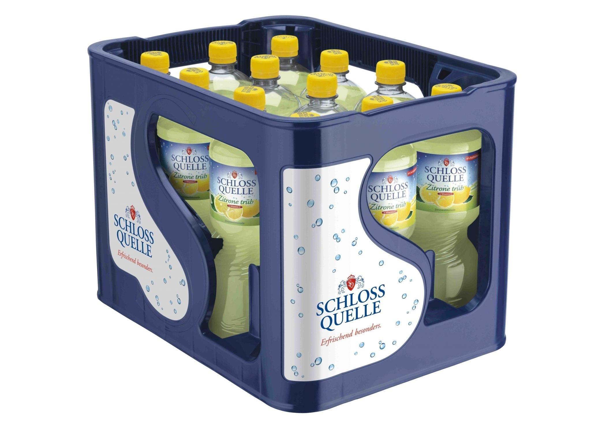 Schloss Quelle Zitrone trüb 12x1,00l - Ihr Getränkemarkt für Herne ...